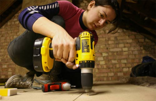 Drilling and fitting a loft floor