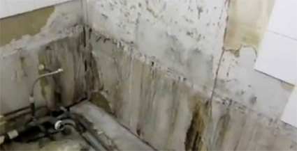 Damaged caused by poor grouting