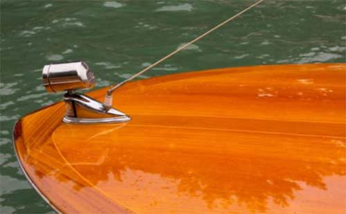 Varnished boat with great finish