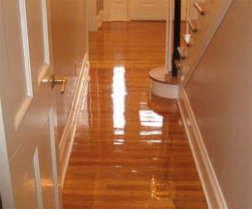Beautifully varnished floor