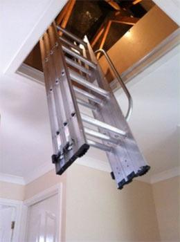 Easy loft access with a loft ladder