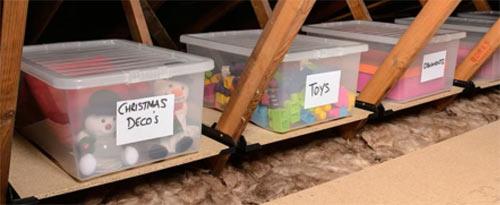 Loft ledge storage system