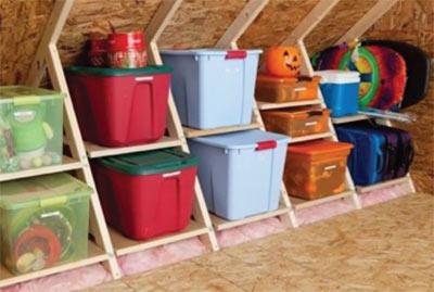 Organised loft storage