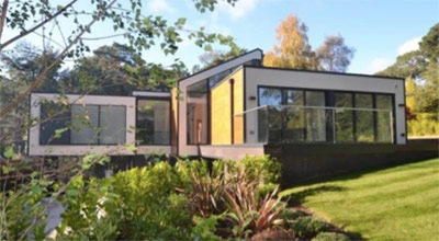 Contemporary style self build home