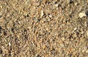 Course sandy soil