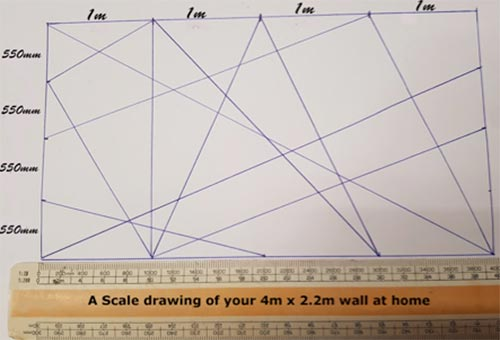 Using a scale rule to mark your pattern