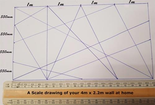 Méretszabály használatával jelölje meg a mintáját