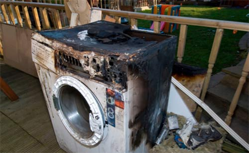 Burnt out washing machine
