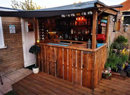 Home bar in garden