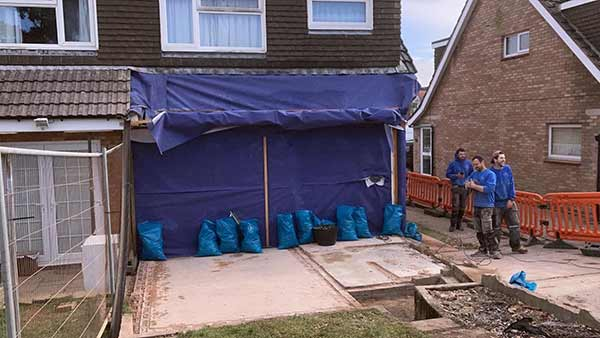 Rear 2 storey extension to house