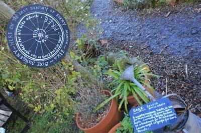 Bike surgery sign in the gardens at Deen City Farm