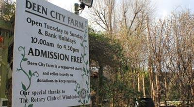 Deen city farm in merton