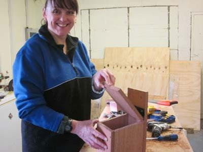 Building a bird box for National Nest Box Week