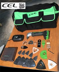 Cel cordless multi-tool kit