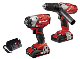 Einhell 18V combi drill and impact driver