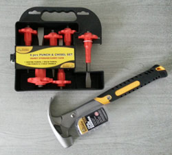 Roughneck hammer and chisel set
