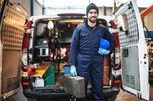 Tradesman ready for work