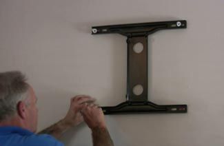 Fitting a heavy TV bracket is easy with Corefix fixings