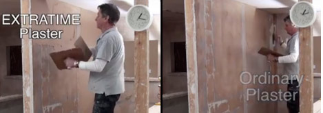 Comparing walls with different plaster types