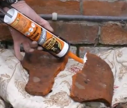 Roof tiles can be fixed with Gorilla Grab Adhesive