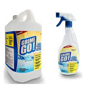 Grime Go 750ml spray and 4 litre tub
