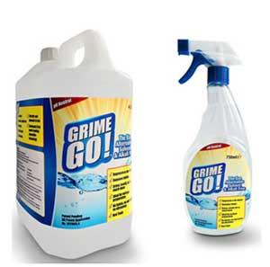 Grime Go 750ml spray and 4 litre tub