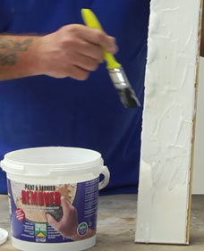 Use Home Strip to remove paint and varnish