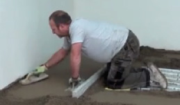 Screeding floors using the Kneezy knee pad