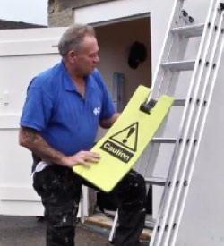 The Kneezy saving knees up ladders