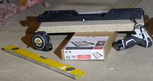 Tools for fitting the Loft Ledge kit