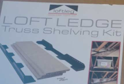 Loft Ledge truss shelving kit