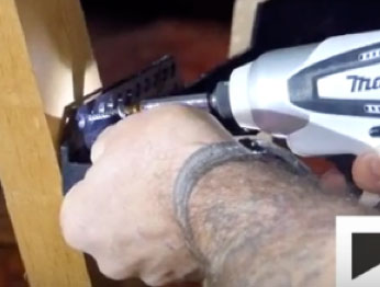 Fixing Loft Ledge brackets with an electric screwdriver