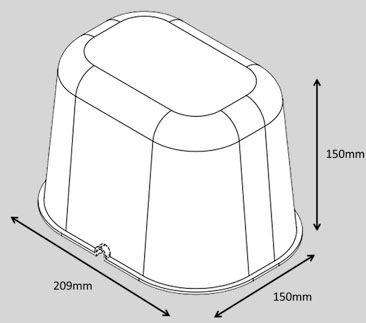 Dimensions of the Loft Lid