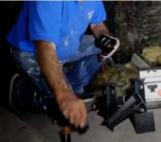 The Loft Light takes 3 D-type batteries