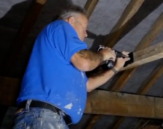 Fixing the Loft Light to roof joist
