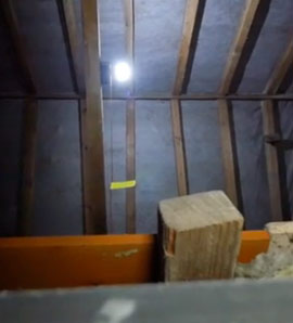 Reflector strip on Loft Light pull cord