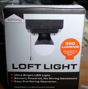 The Loft Light lighting system
