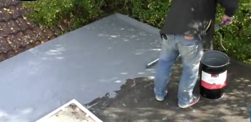 Great coverage with Acrylic roof repair coating