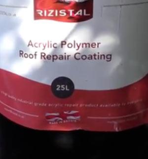 Acrylic Polymer roof repair coating