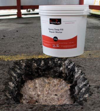 Rizistal Epoxy mortar in container