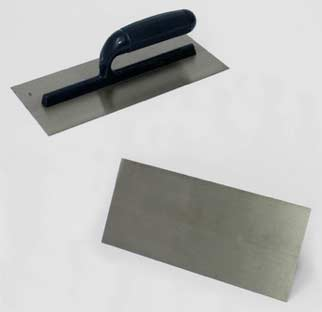 Bitumen roofs can be laid with a finishing trowel