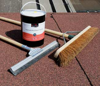 Repair flat roofs with Rizistal's High Build Bitumen Repair Coating