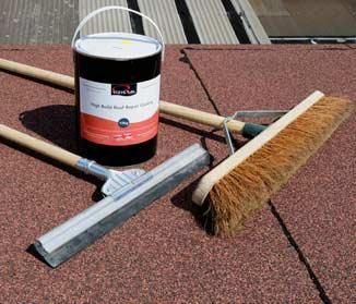 Repair flat roofs with Rizistal's High Build Bitumen Repair Coating