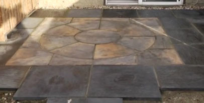 Patio ready to be sealed with paving sealer