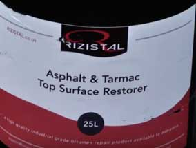 Asphalt and Tarmac Restorer from Rezistal