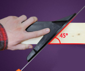 Using the Studhawk to cut a 45 degree angle