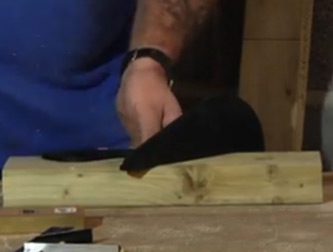 Using the Studhawk saw guide for mitred joints
