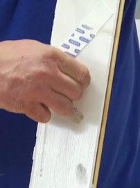 Stains and marks used to test super strength degreaser