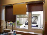 Using more than one roller blind in a window can allow partial light in to save glare