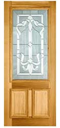 Glass panelled wooden door
